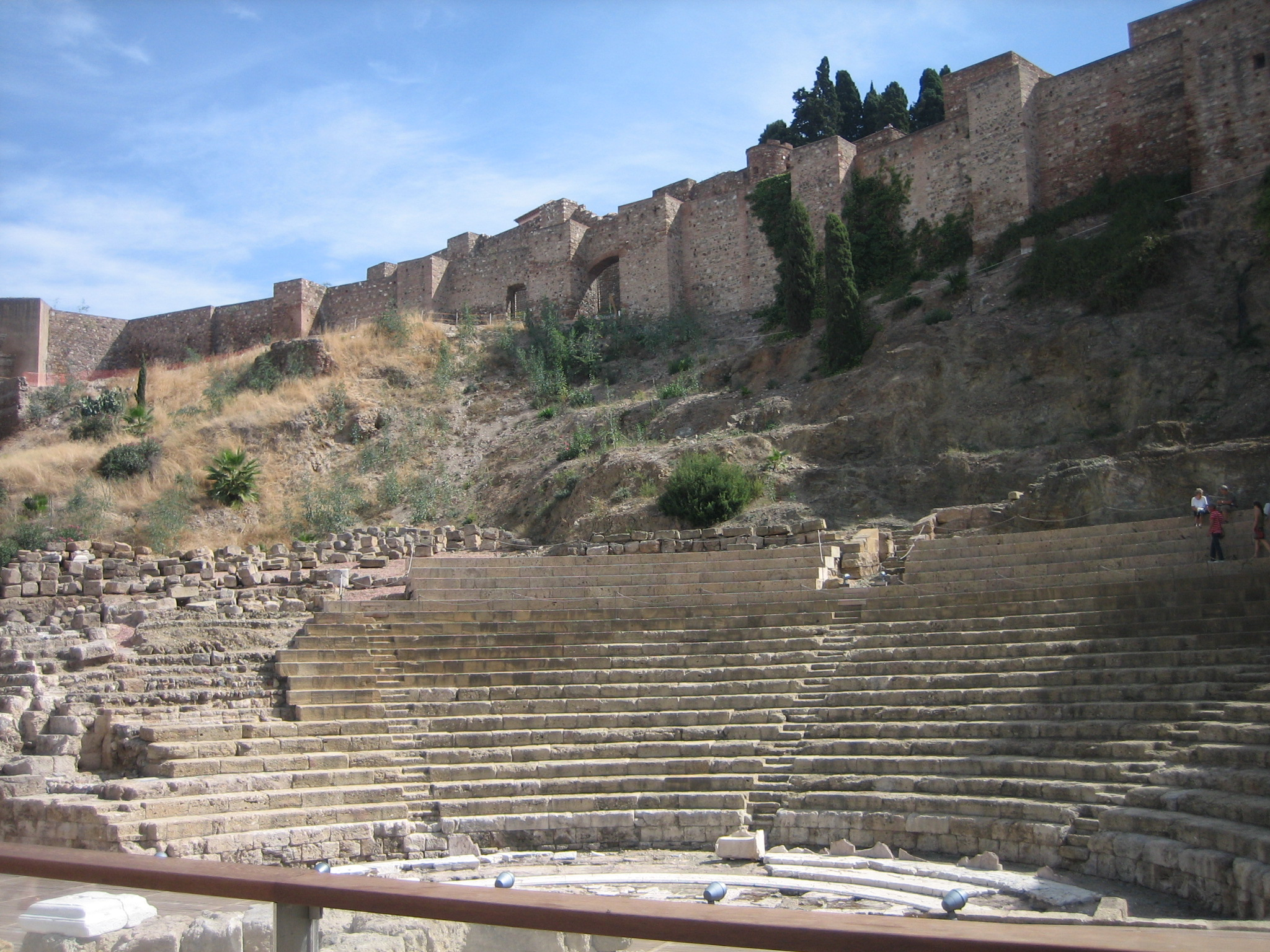 Baños Roma Teatro Linea De Sombra:Teatro Romano Málaga