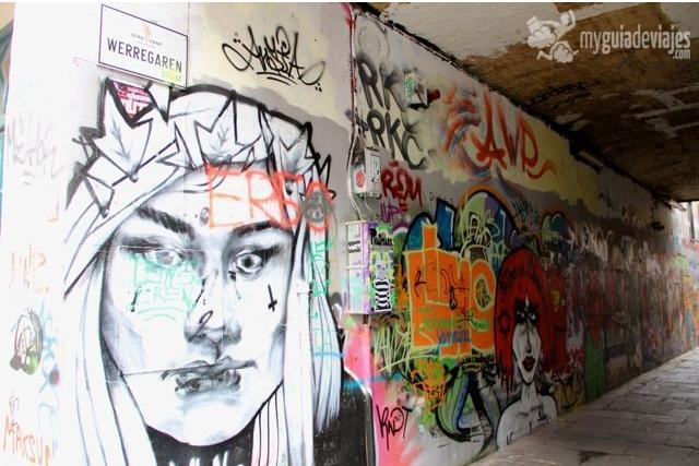 callejón graffiti gante