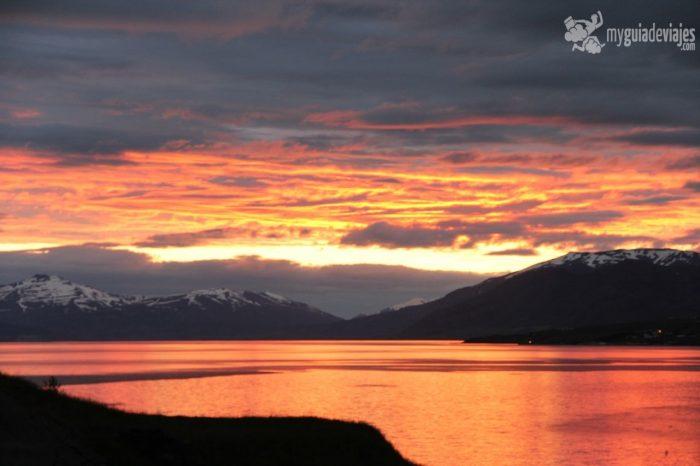 sol de medianoche en islandia