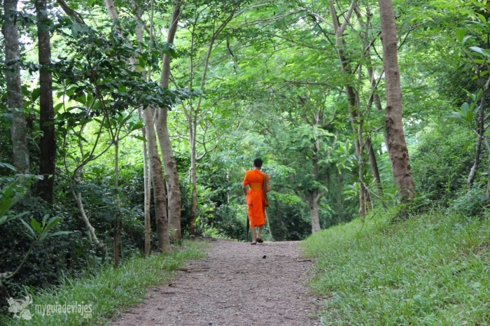 monje en laos