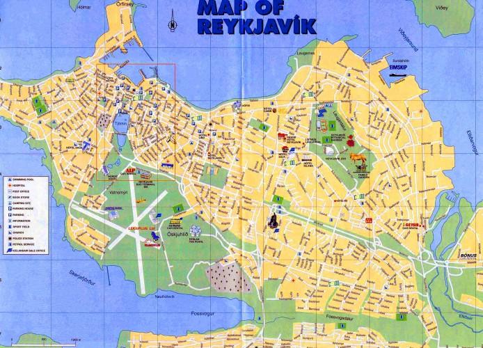 mapa reikiavik