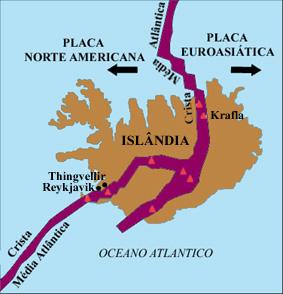 placas tectonicas Islandia