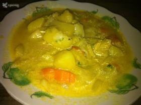 sopa curry y coco