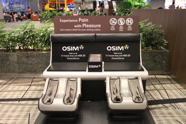 sillones masajes aeropuerto singapur