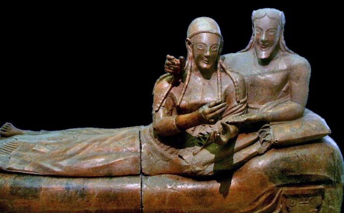 Sarcófago de los esposos. Imagen de wikipedia.org