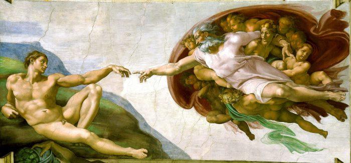 La creación de Adán, de Miguel Ángel.