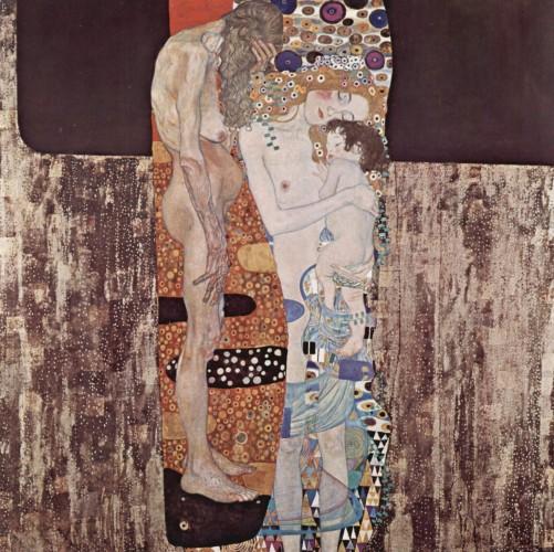 Las tres edades de la mujer de Klimt. imagen de wikipedia.org