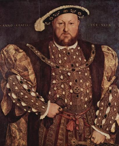 Enrique VIII de Inglaterra de Hans Holbein el joven.