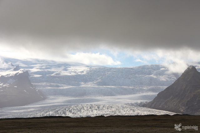 El Glaciar Vatnajokull al sur de Islandia.