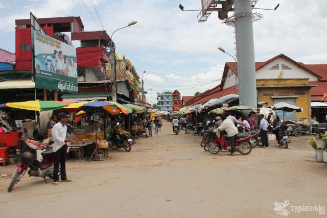 Calle en Siem Reap
