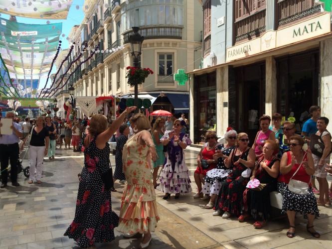 Bailando en calle Larios