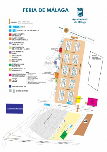 Plano recinto ferial Málaga 2014
