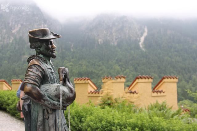 Estatua en castillo de Hohenschwangau