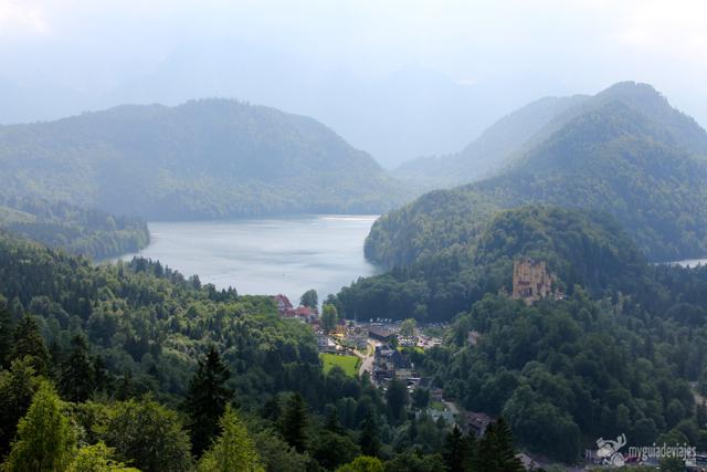 vistas desde el balcon neuschwanstein
