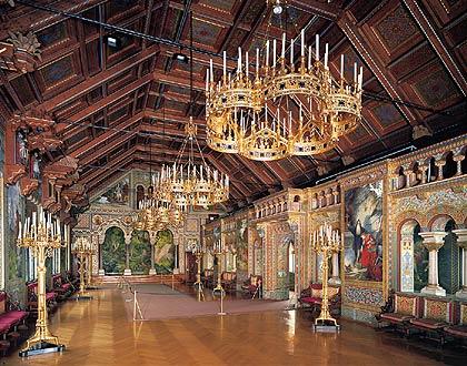 Sala de los cantores. Imagen de http://www.neuschwanstein.de/