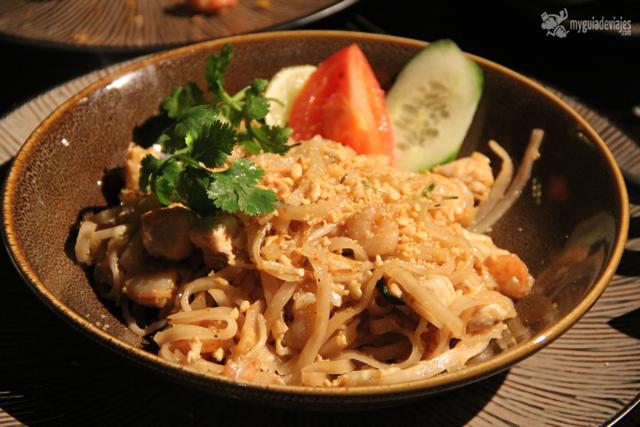 delicioso el pad thai del Koh Samui