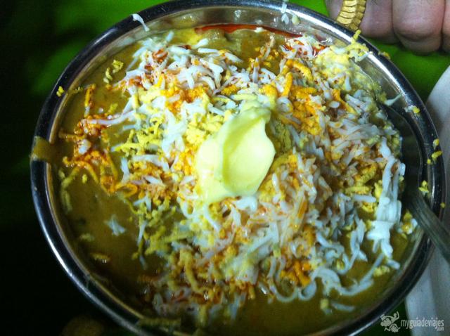 comida hindú de Baanu.