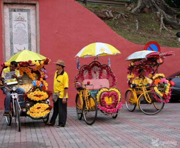 Los horteras trishaws de Malaca.