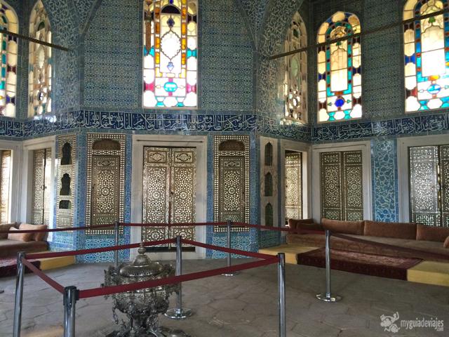 Interior del Palacio de Topkapi.
