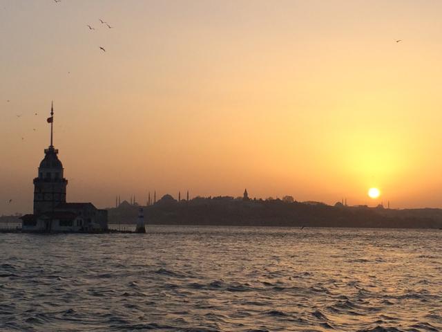 Atardecer desde Uskudar, la parte asiática de Estambul.