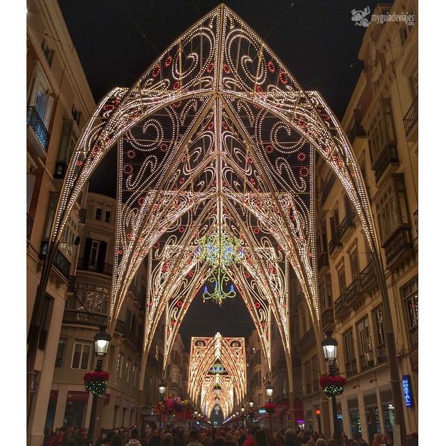 iluminación navideñas en calle Larios.