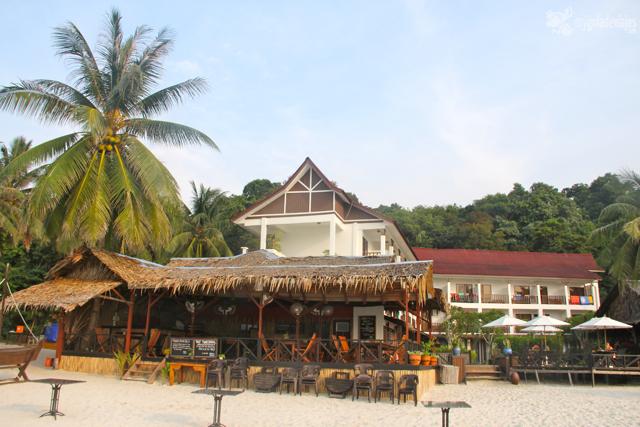 Bubu resort, lo más caro de las isla pequeña.