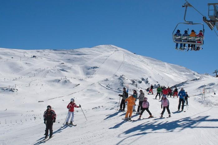 Sierra Nevada. Imagen de  la web oficial de la estación de esquí, www.sierranevada.es