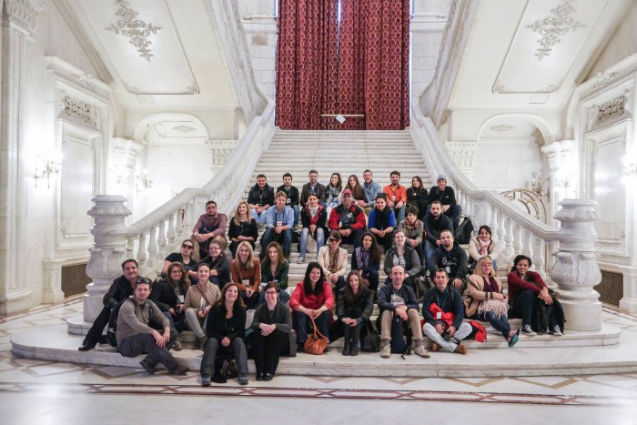 Los bloggers de #enjoybucharest. foto de Dragos Asaftei.
