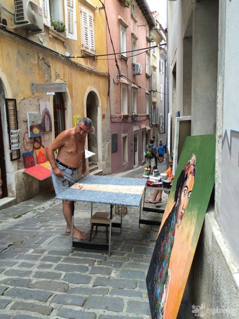 pintor en piran