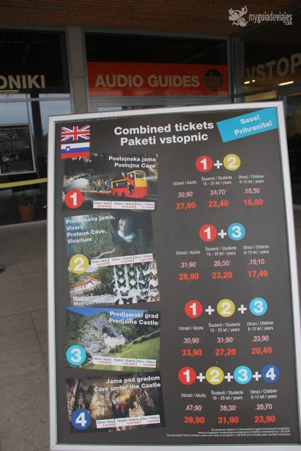 tickets combinados postojna
