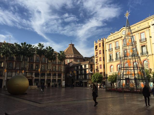Plaza de la Constitucion en navidad