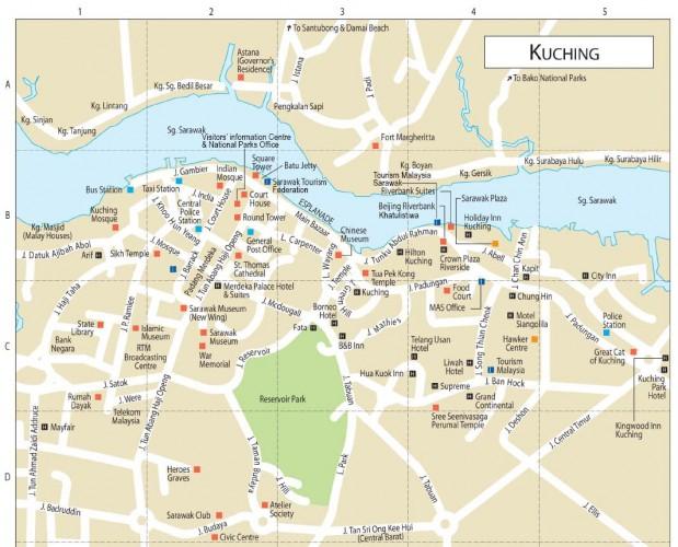 mapa de kuching