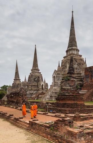Templo en Ayutthaya. Wikipedia.