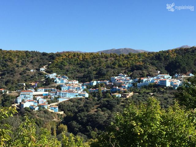 El pueblo azul de la serranía de Ronda.
