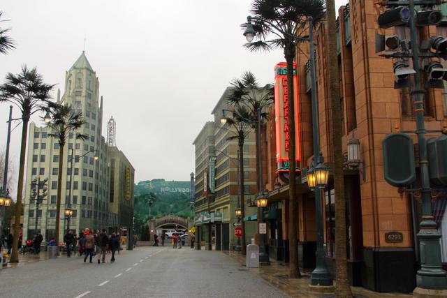 Calle principal en Disney Studios