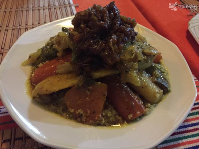 Delicioso el cous cous del Restaurante Sofia.