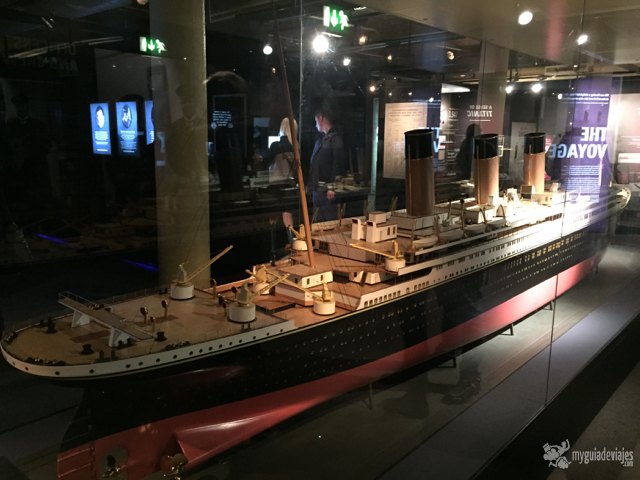 Maqueta del Titanic.
