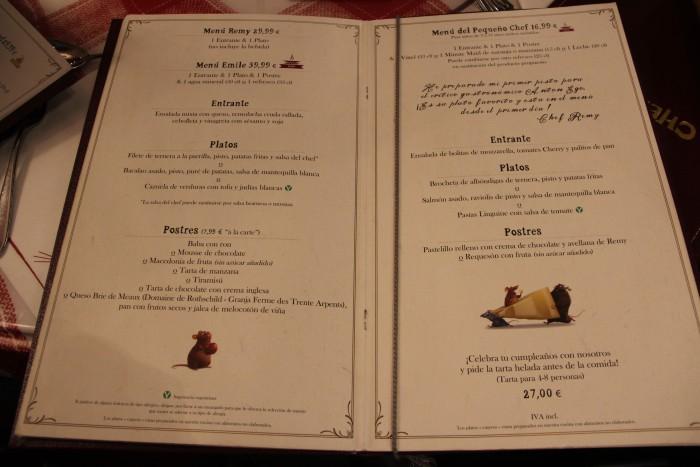 menu chez remy