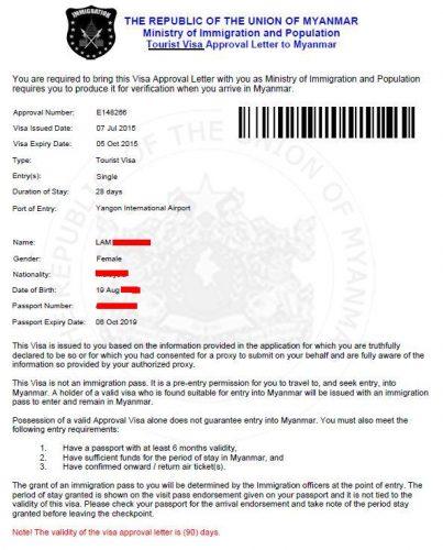 Myanmar-e-Visa-Approval