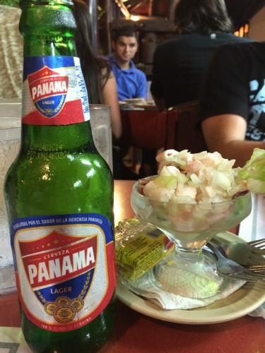 Cerveza Panama y ceviche