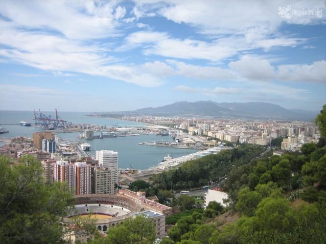 Málaga desde el Parador de gibralfaro