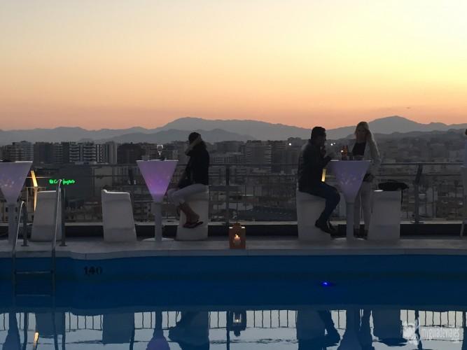 Terraza del AC Málaga Palacio
