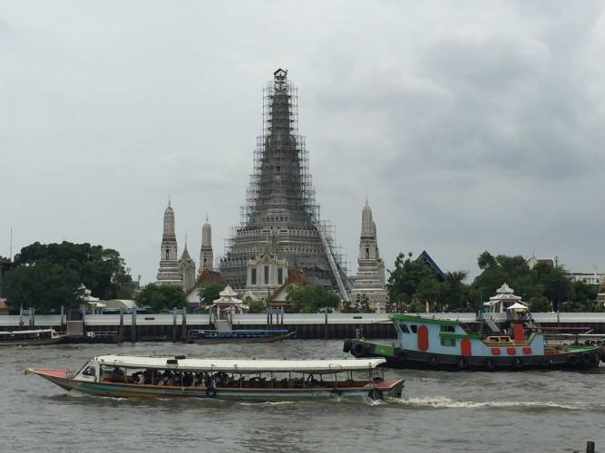 Barcos en el Chao Phraya