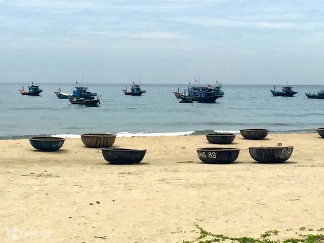 Típicas barcas de pesca de Danang.
