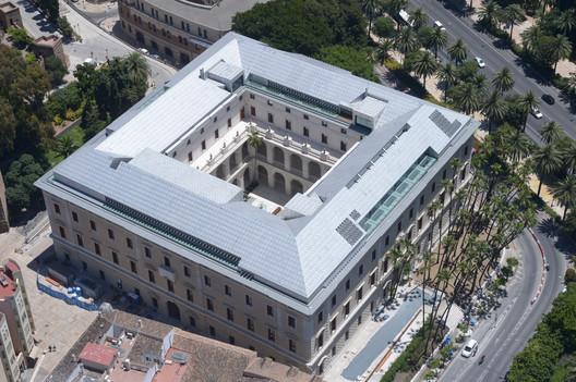 Palacio de la Aduana desde el aire.