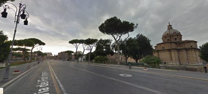 Via Foros imperiales. Imagen de google maps.