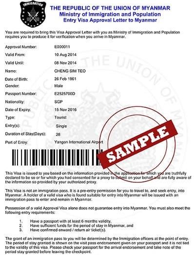 Myanmar-e-Visa-Application