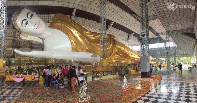 Buda reclinado de Shwethalyaung. Bago.