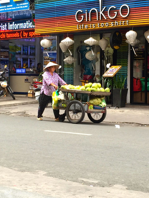 Vendedora callejera