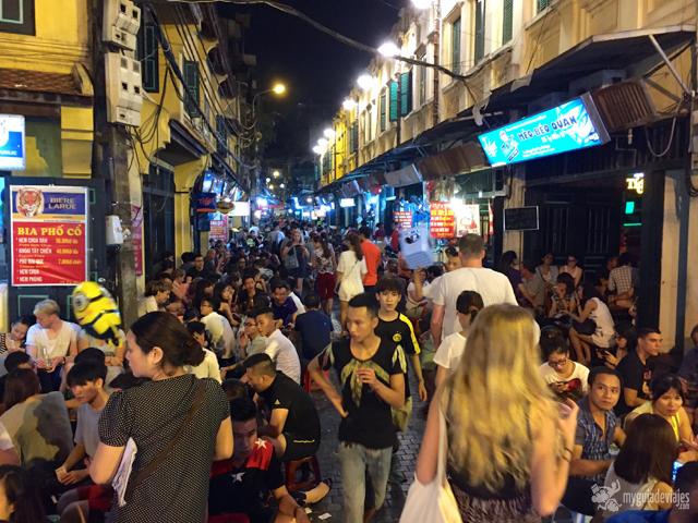 Calle Hang Dieu en Hanoi